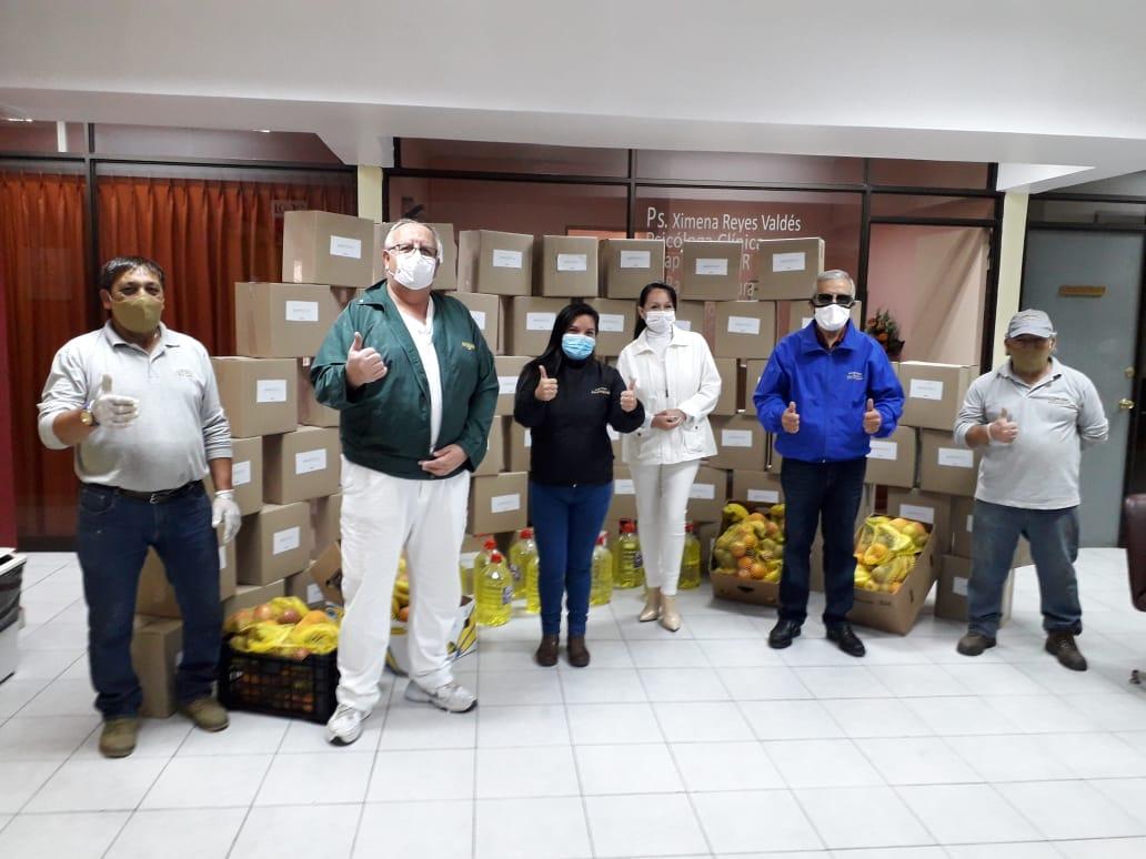 30 FAMILIAS DE ONCOFELIZ BENEFICIADAS CON DONACIÓN DE LA VEGA CENTRAL