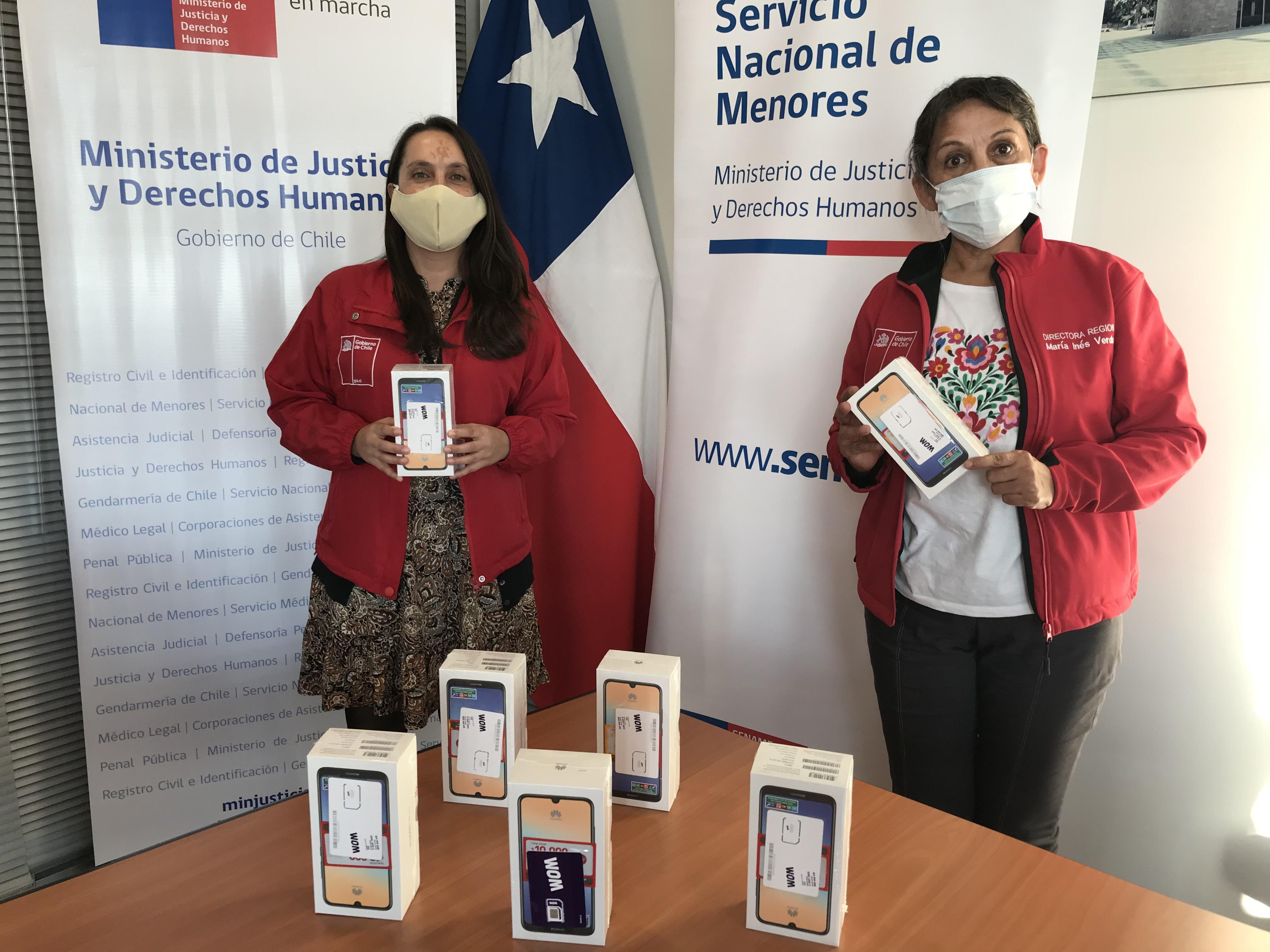 RESIDENCIAS Y CENTRO DE JUSTICIA JUVENIL RECIBEN IMPORTANTE DONACIÓN DE CELULARES