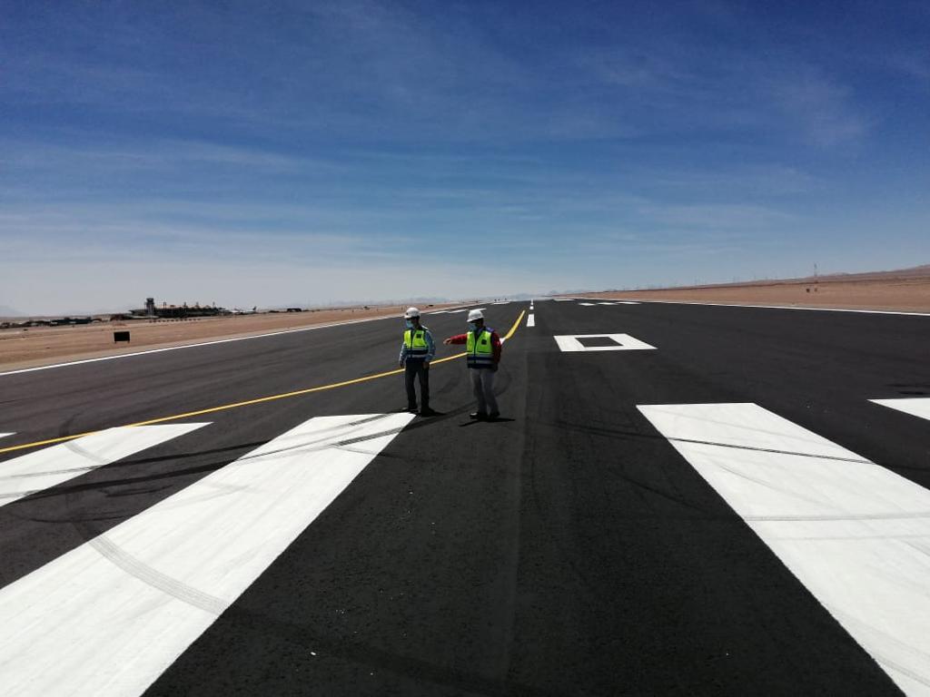 MOP presenta positivo avance en obras de conservación en área de movimiento en aeródromo El Loa