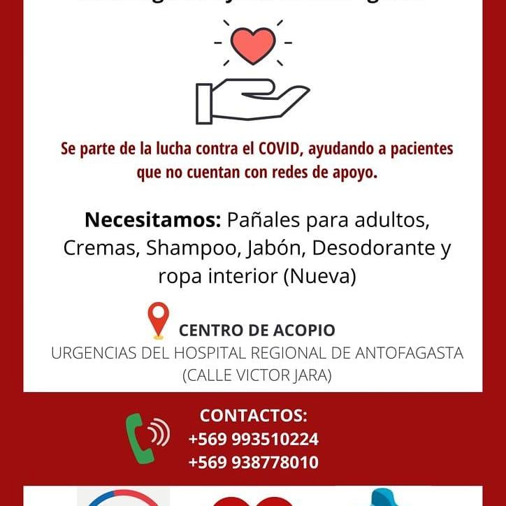 """Servicio de Salud de Antofagasta y Hospital Regional relanzan Campaña Solidaria """"Antofagasta ayuda a Antofagasta"""""""