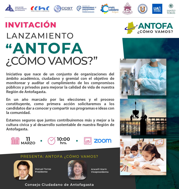 """""""Antofa ¿Cómo Vamos?"""" Organizaciones invitan a lanzamiento de plataforma de monitoreo social"""