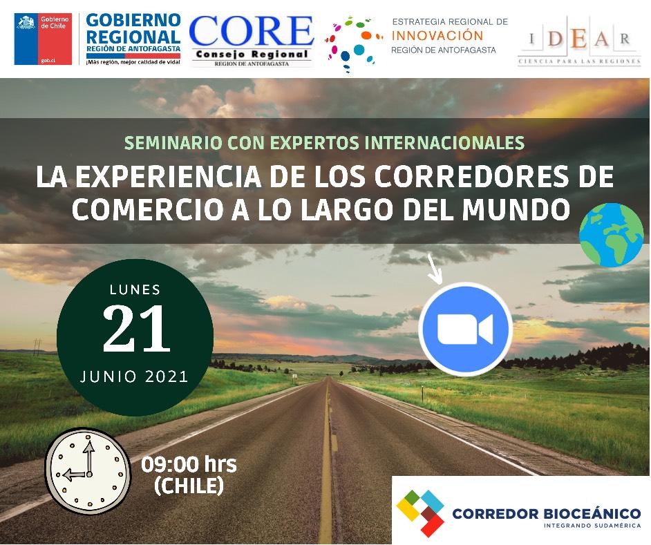 Expertos internacionales en Corredores  Bioceánicos expondrán en Seminario Virtual