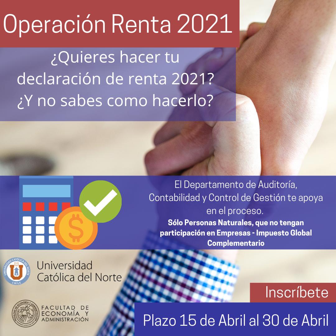 Académicos entregan asesoría online en Operación Renta