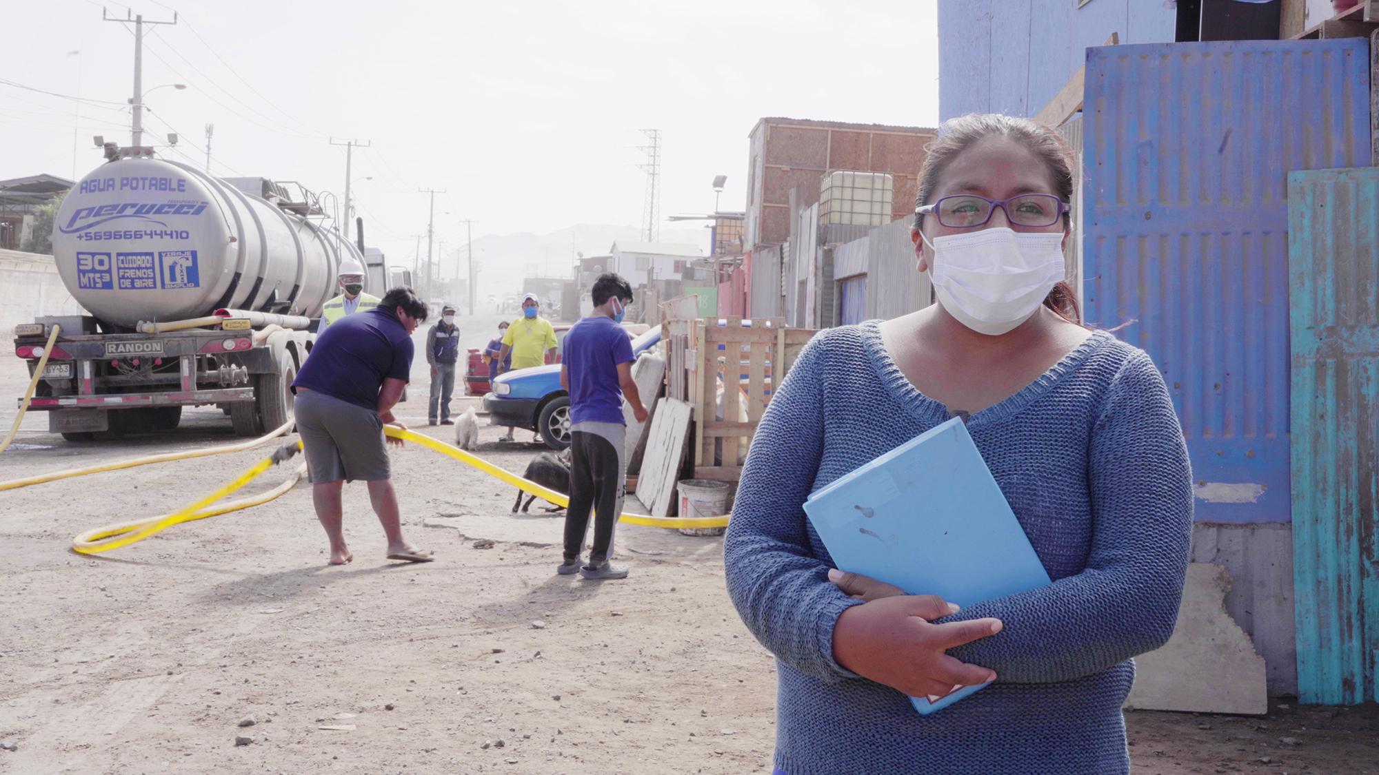 """SANITIZACIÓN Y DISTRIBUCIÓN DE AGUA EN CAMPAMENTOS, OTRO DE LOS FOCOS DEL PLAN """"VAMOS JUNTOS"""""""