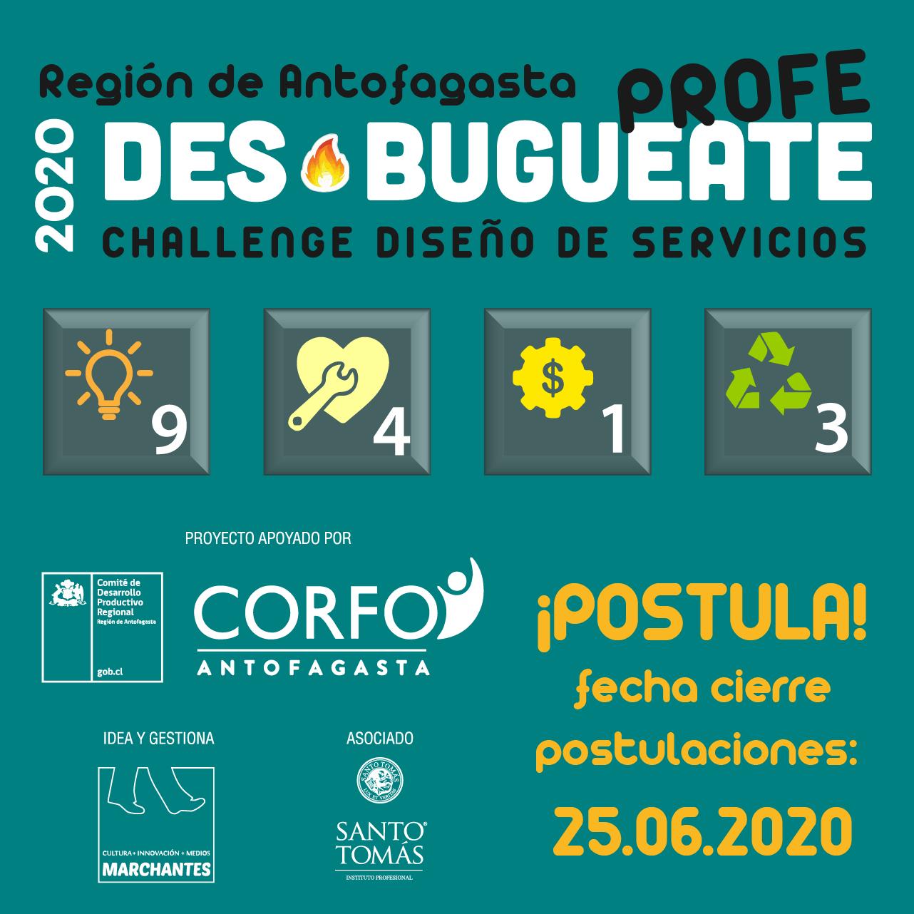 DES-BUGUEATE CHALLENGE DISEÑO DE SERVICIOS 2020:  EL USUARIO COMO CENTRO DE LA ACCIÓN EN ANTOFAGASTA