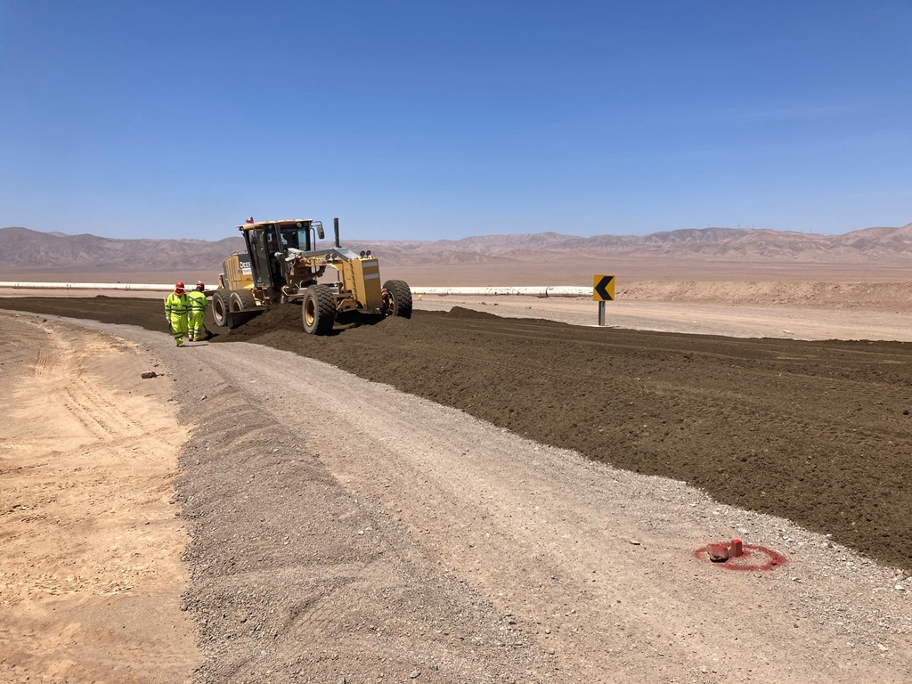 MOP inspeccionó avances en obras de pavimentación en Ruta productiva B-240