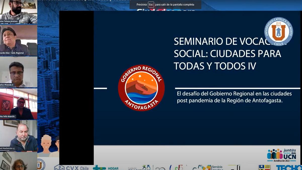 Calidad de vida, salud y vivienda marcan desafíos post-pandemia en la región de Antofagasta