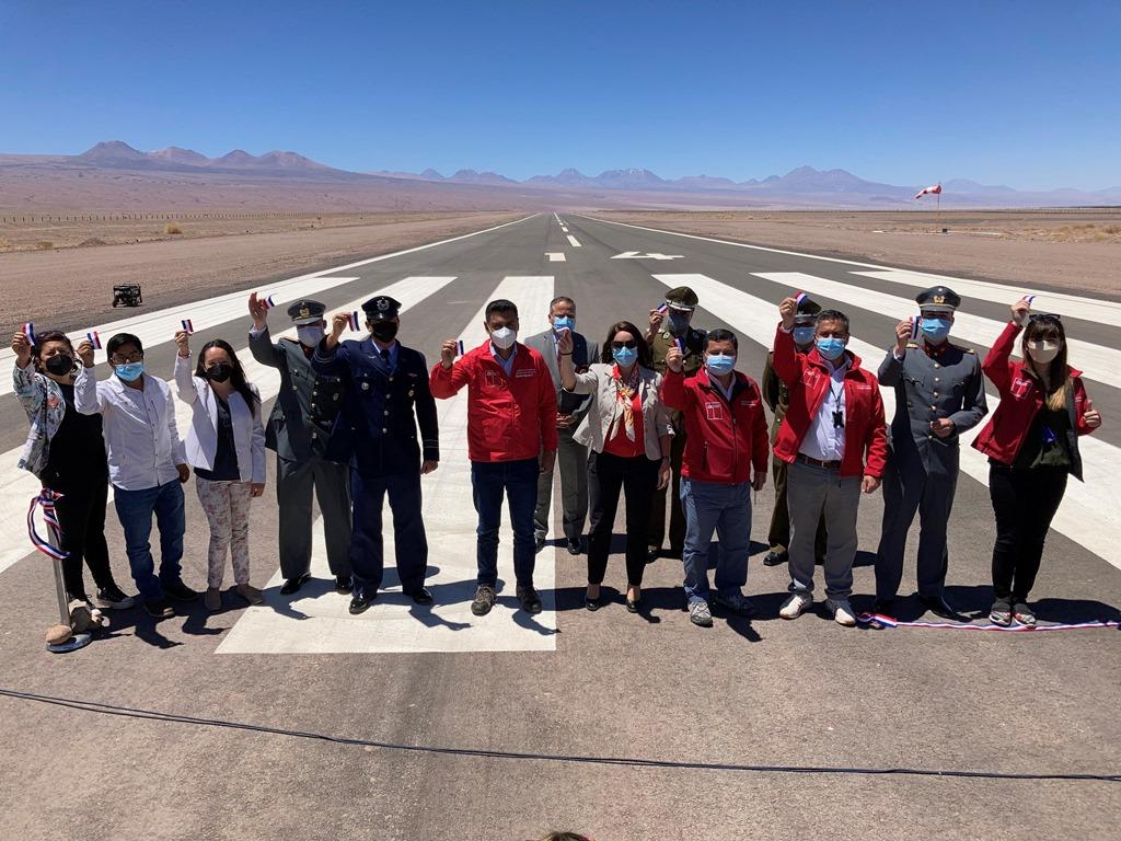 MOP inaugura obras de conservación en Aeródromo de San Pedro de Atacama