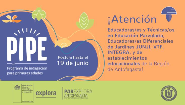 INVITAN A PARTICIPAR DE MANERA VIRTUAL EN PROGRAMA DE INDAGACIÓN PARA PRIMERAS EDADES (PIPE)