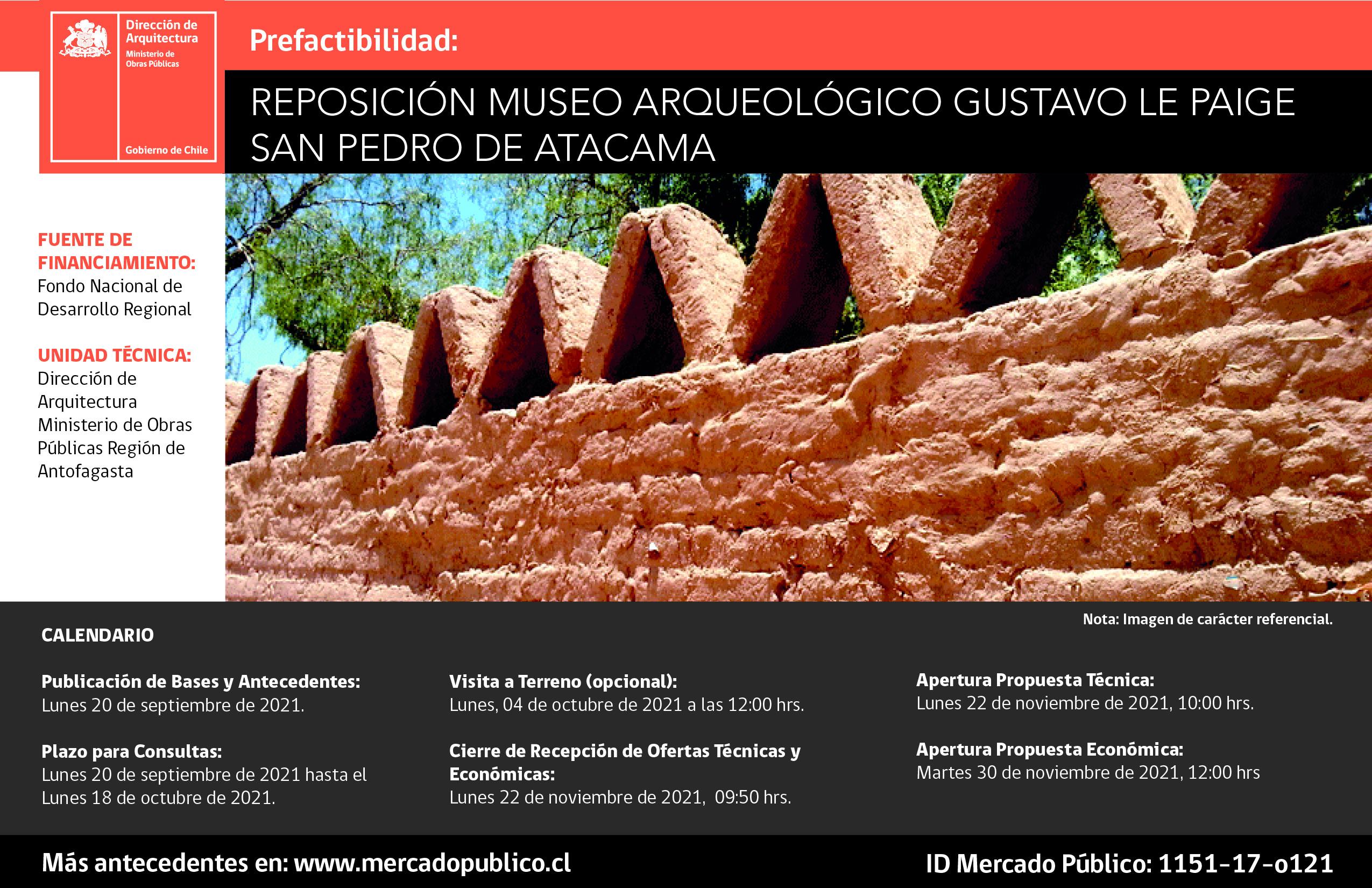 MOP licita Prefactibilidad para reposición de Museo Gustavo Le Paige de San Pedro de Atacama