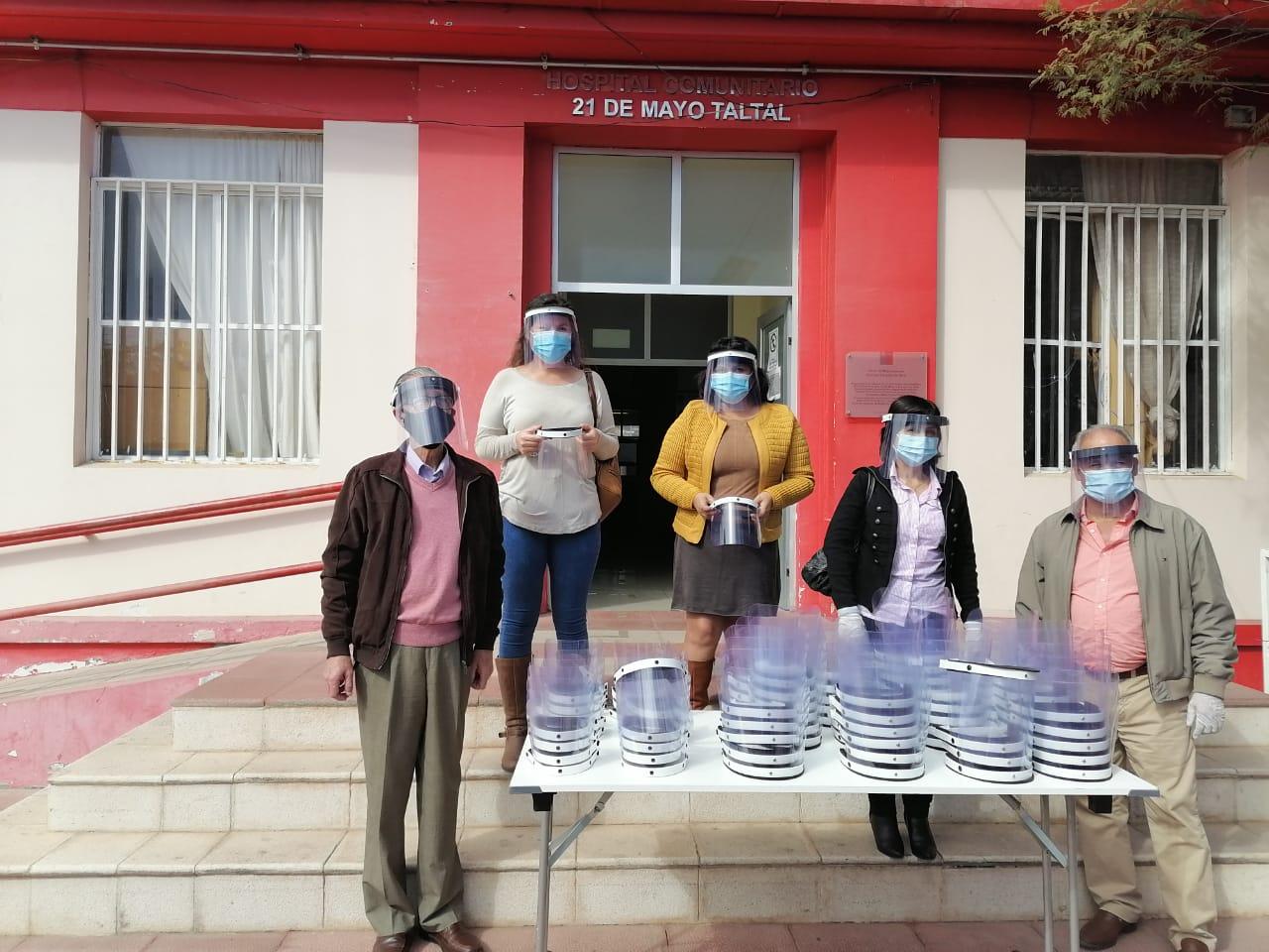 CENTRO DE PILOTAJE UA DONÓ 180 PROTECTORES FACIALES EN COMUNA DE TALTAL
