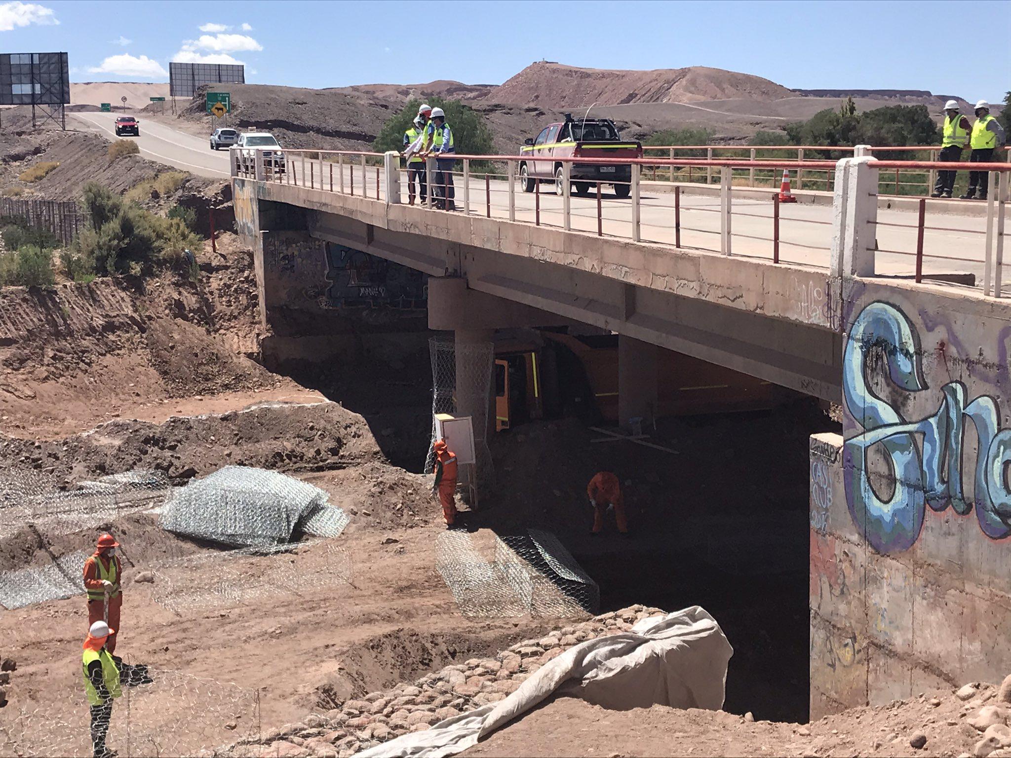 MOP inició mejoramiento vial en pasada urbana por San Pedro de Atacama