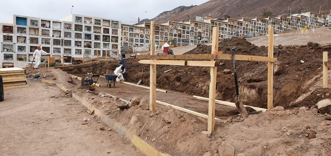 INICIAN OBRAS DE CONSTRUCCIÓN DE NICHOS EN CEMENTERIO GENERAL DE ANTOFAGASTA