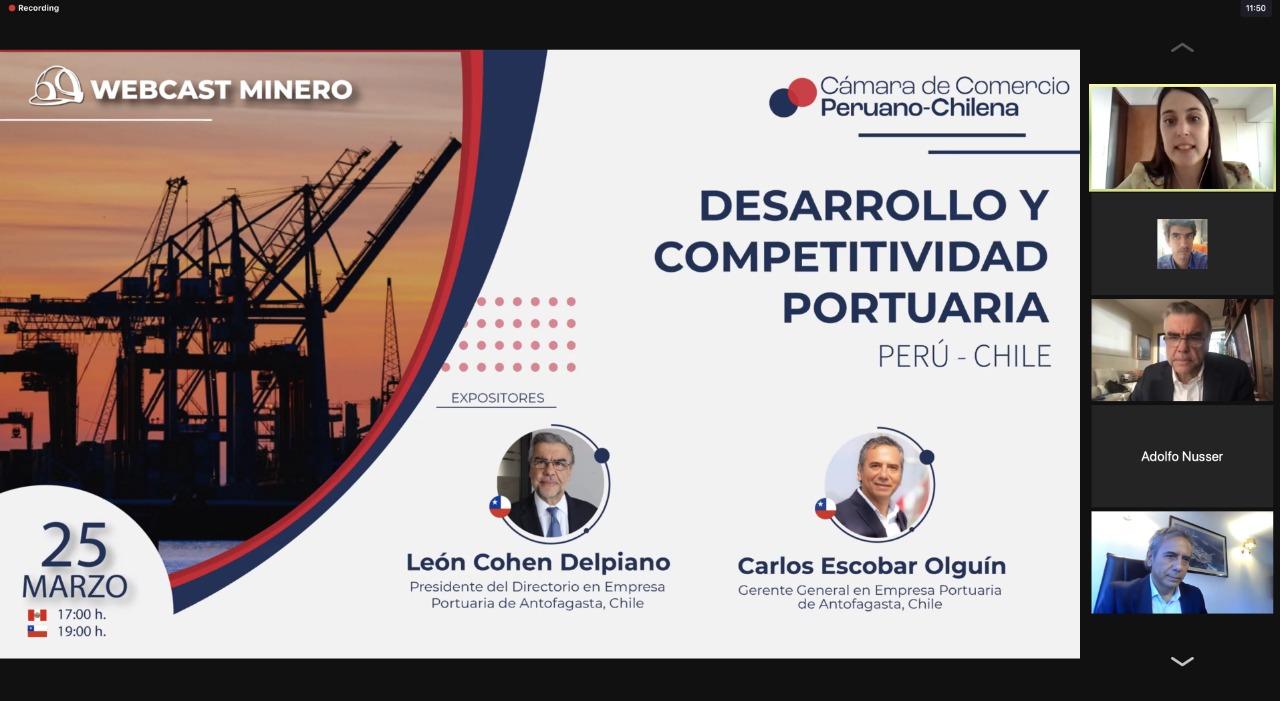Empresa Portuaria Antofagasta presentó sus proyectos en Webcast  Minero: Desarrollo y Competitividad Portuaria Perú–Chile