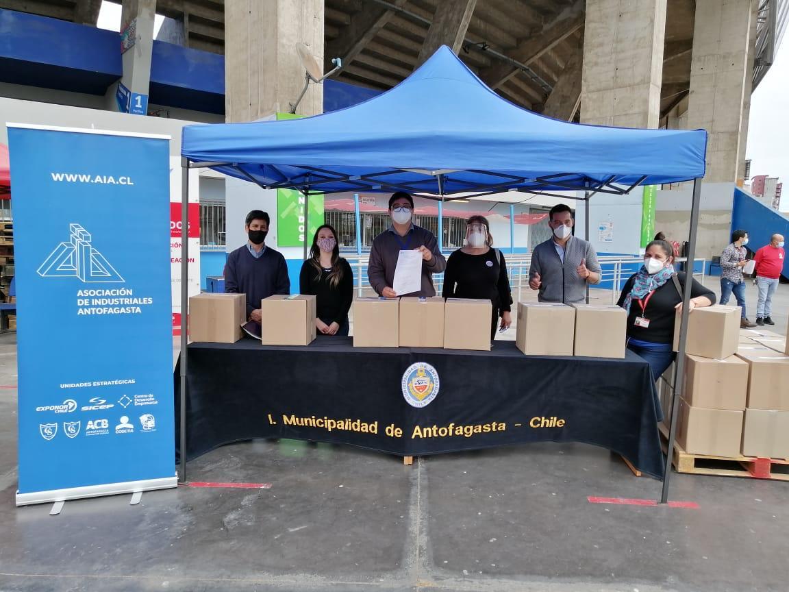 Alcaldes de la Región de Antofagasta agradecen a la AIA por entrega de alimentos a hogares afectados por la pandemia