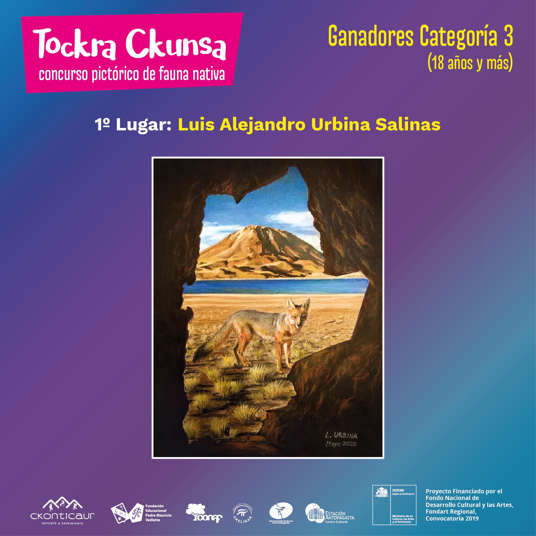 GANADORES CONCURSO DE DIBUJO Y PINTURA DE FAUNA NATIVA: TOCKRA CKUNSA