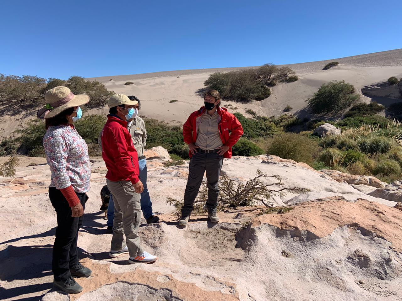 MOP inspeccionó avances de importante obra de riego en valle de Zapar