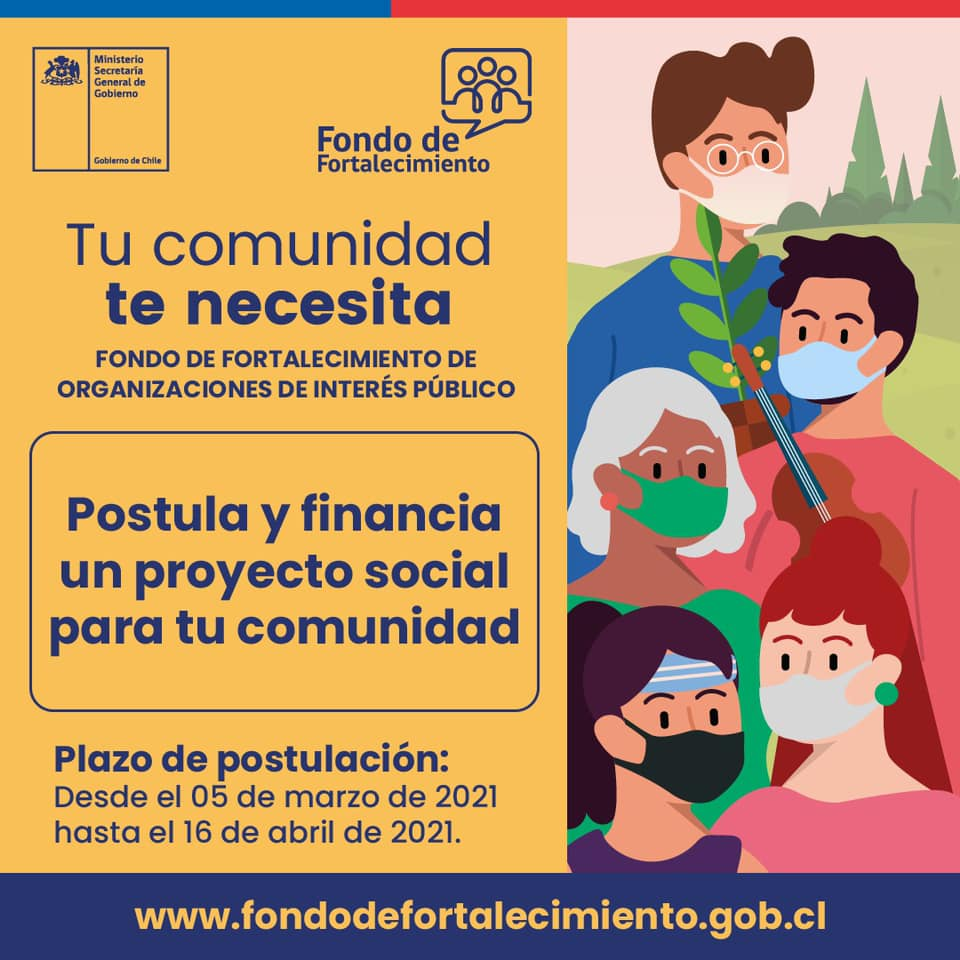 Atención agrupaciones: Aún hay plazo para postular al Fondo de Organizaciones Sociales
