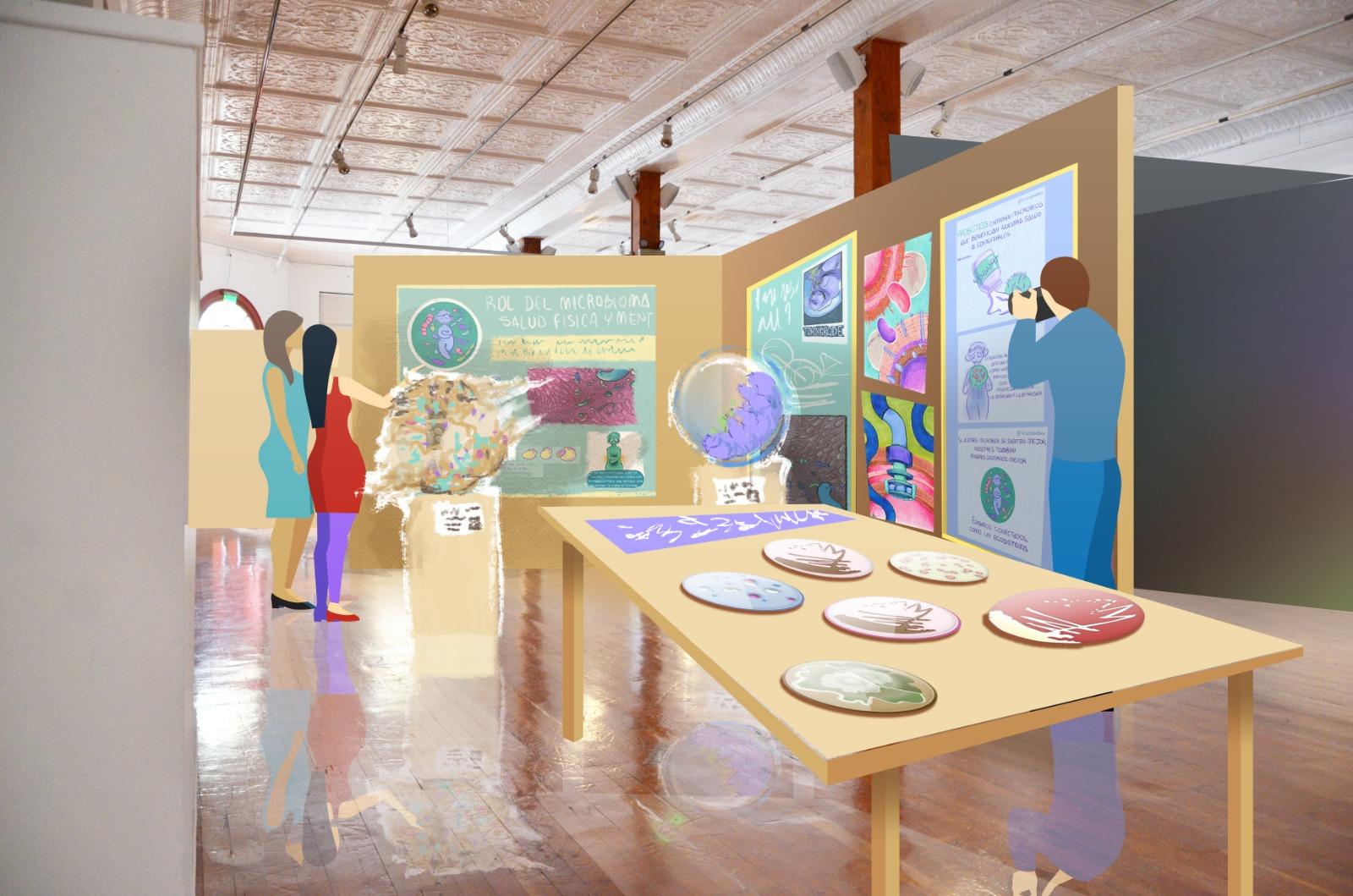 Preparan muestra sobre microbioma humano que une ciencia y arte