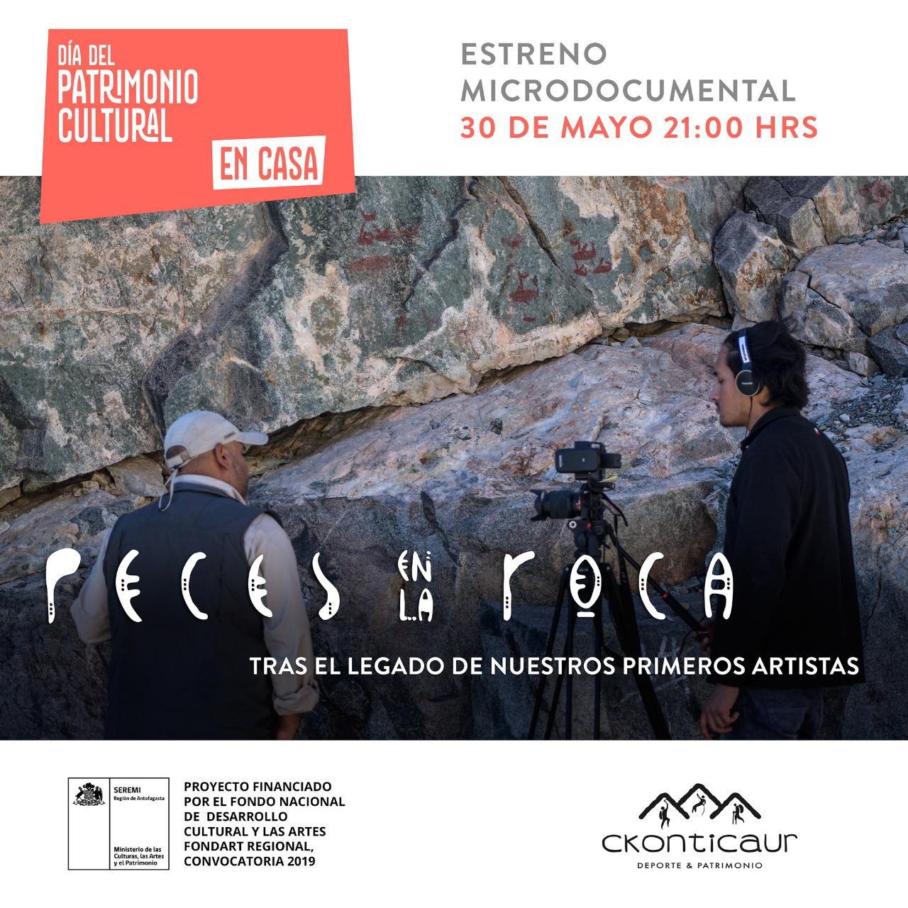 """DIA NACIONAL DEL PATRIMONIO: ESTRENO NUEVO MATERIAL AUDIOVISUAL """"PECES EN LA ROCA"""""""