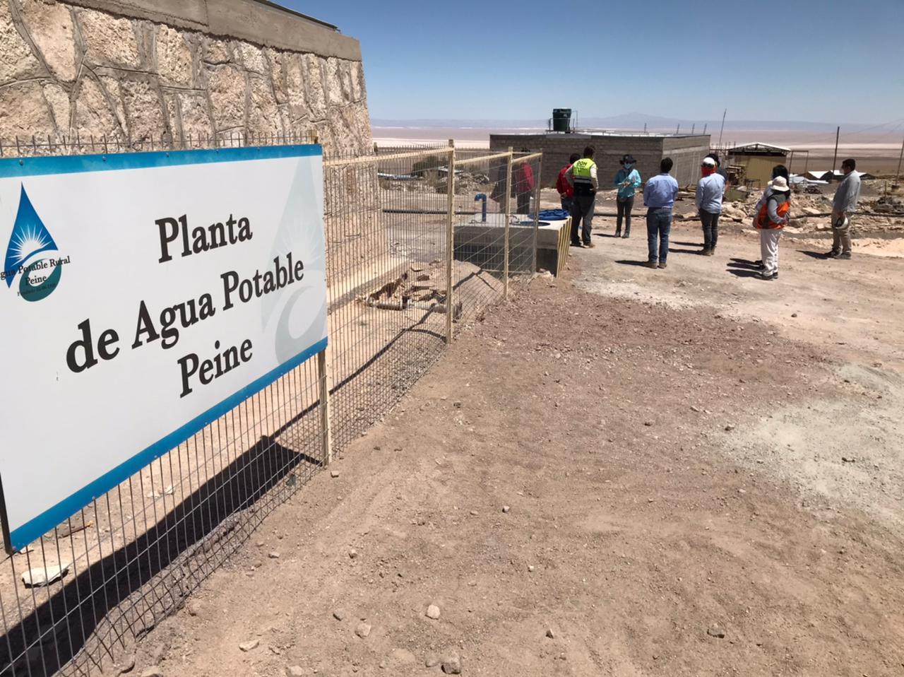 MOP inspeccionó obras de conservación a red de suministro de agua en Peine y Socaire